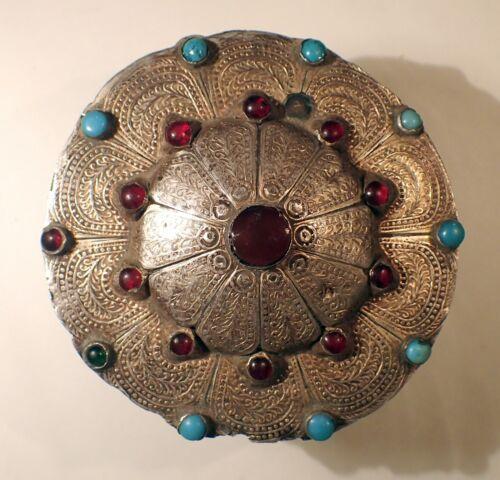 Antique Turkmen Yomud Yomut Silver Pendant 63 g