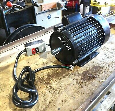 3 Hp Motor From Accura Dust Collector With Onoff Switch. New Amish Take Off
