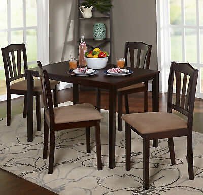 Classic Dining Set 4-Seater Chair Table Home Kitchen Room Furniture 5-Piece