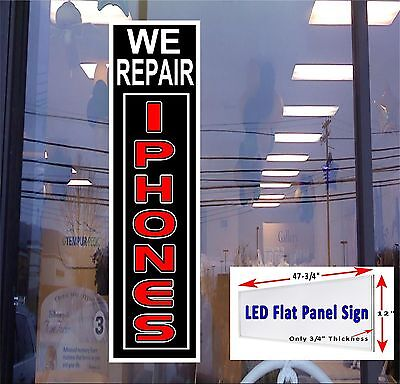 Led Sign We Repair Iphones Window Sign 48x12 Neon Banner Alternative New Led