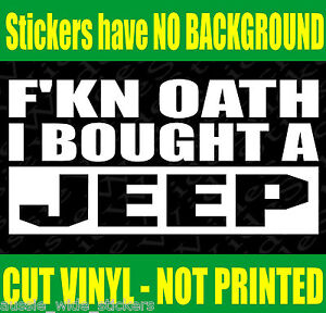 Funny Car 4x4 JEEP Stickers FKN JK CJ Grand CHEROKEE WRANGLER Spare Wheels Parts