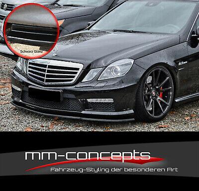 CUP Spoilerlippe SCHWARZ Mercedes E-Klasse W212 S212 E63AMG Frontspoiler Schwert