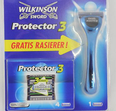 Wilkinson Sword Protector 3 Rasierer und 5 Klingen Rasierklingen NEU