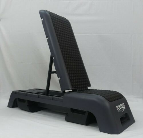 PowerFit Step Bench and Workout Station with Free Resistance Band