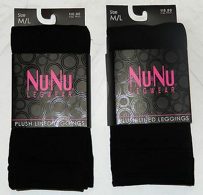 Plush Legging - 2 Pair Plush Black Fleece-Lined Leggings