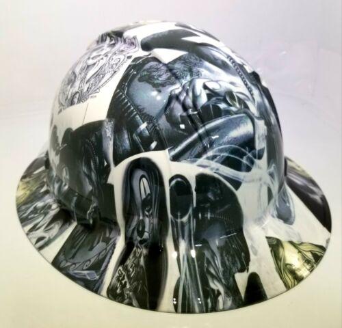 NEW FULL BRIM Hard Hat custom hydro dipped in , VIVA MI RAZA CHICANO TATTOOS 2