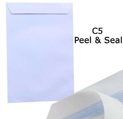 50x C5 Plain White Envelopes Peel and Seal A5 Postal Large Letter High Quality