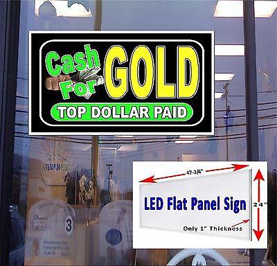 Led Sign Cash For Gold 48x24 Window Sign Neon Banner Alternative New Gen Leds