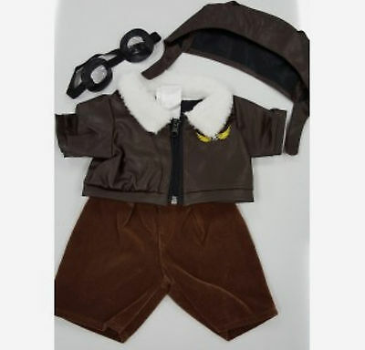 TEDDY BEAR PILOT Outfit w/GOGGLES CLOTHES Fit 14