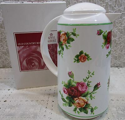 Royal Albert Old Country Roses Thermos Insulate Carafe Pitcher 8 Cup Hot/Cold