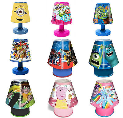 Disney & Kids TV Character Kool Lamp Kids Bedroom Bedside Deco Brand New Gift