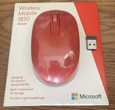 Wireless Mouse Microsoft Mobile 1850 Mouse Flame Red #U7Z-00031 NEW In BOX