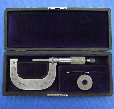 Vintage Brown Sharpe 47 Micrometer 1-2 W Std In Original Case Machinist