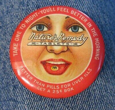 Vintage Medicine Advertising Nature's Remedy Novelty Pocket Mirror