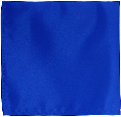 New men's polyester solid royal blue hankie pocket square formal wedding party