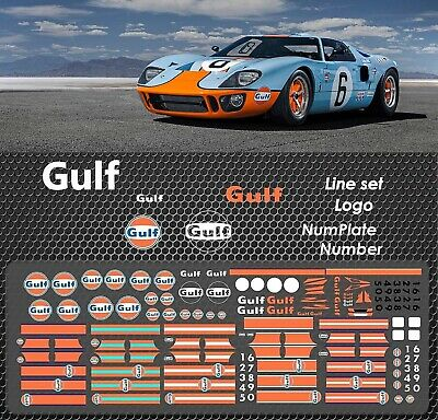 Gulf Waterslide Decals 1/64 Custom Hot Wheels Kyosho Ignition TARMAC HOT # 002