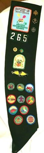 OFFICIAL Girl Scout BADGE SASH, HALLOWEEN COSTUME Junior Rreading Patch 265