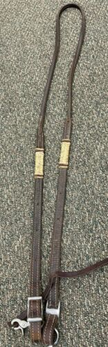 Western Clip On Reins - Brown - 44 Inches