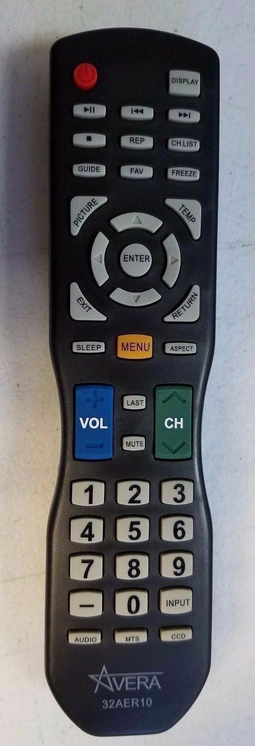 Original NEW Avera 50AER10 TV Remote Control. Free Shipping!
