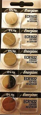 Energizer ECR1632 CR 1632 (5 piece) Lithium 3V Battery New Authorized Seller