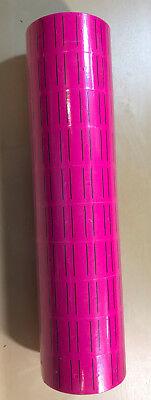 30 Rolls 15000 Tags Pink Labels For Motex Mx-5500 L5500 Mx989 Price Gun 65