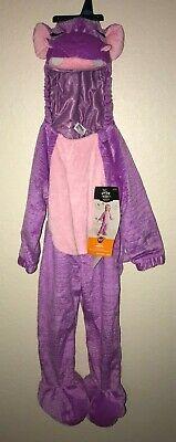 NEW girls PURPLE HIPPO HALLOWEEN COSTUME 1 pc 18./24 month pink trim WARM CUTE@@](Purple Hippo Halloween Costume)