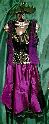 Phaze Clothing Purple Satin 50s Circle Skirt Size 12 -PUNK/STEAMPUNK/BURLESQUE