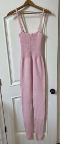 Rare Vintage Capezio Knit Dance Unitard Sleeveless Bodysuit Sleeveless Pink Sz L