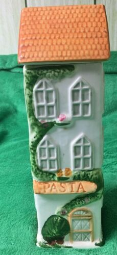 Vintage Pasta jar collectibles House VICTORIAN Townhouse
