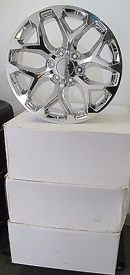 "20"" NEW GMC CHEVROLET ESCALADE FACTORY SPEC CHROME SET OF FOUR WHEELS RIMS 5668"