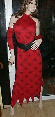 Countessa Spinnenfrau Kostüm Fasching Karneval Vampir Lady Gothic Größe L