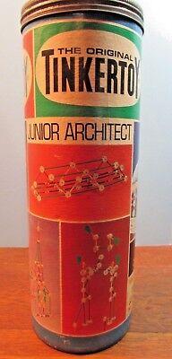 Vintage 1972 Tinkertoys Junior Architect #136 Questor Educational Toy-partial  - Junior Architect