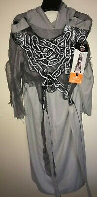 RESTLESS SOUL BOYS NEW NWT HALLOWEEN COSTUME small 4-7 hooded robe chestpiece  - 7 Person Halloween Costume