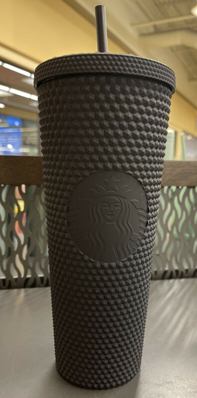 Starbucks Matte Black Studded Tumbler Soft Touch Bling  2021 Cup Limi