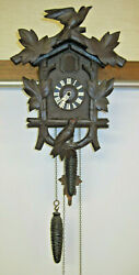Hubert Herr Cuckoo Clock 4 leaves, 2 birds Triberg Germany 1 Day Movement Carved