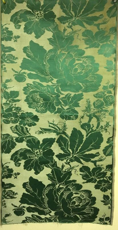 19th Century Silk Woven Jacquard Panel