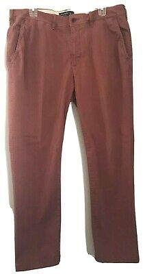 Abercrombie & Fitch 36x32 Mens Rose Classic Straight Leg Chino Flat Front A & F