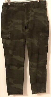 Abercrombie & Fitch Green Camaflouge Women's Slim Boyfriend Pants Size 8/29