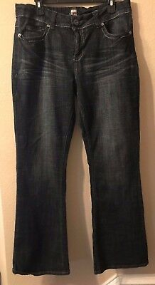 Womens h2j Jeans Dark Denim Wash Jeans Size 16W Casual Boot Cut Style Street for sale  Dallas