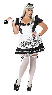 Sexy Gothic Dark Alice In Wonderland Adult Plus Size Costume