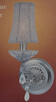 Glass Crystal Like Wall Lamp Chandelier Sconce  Polished Chrome Finish  New