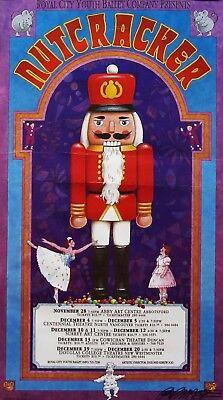 Bob Masse 1992 RCYB Nutcracker Canada Signed Promo Poster Authentic Original