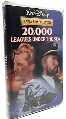 20,000 Leagues Under the Sea VHS Walt Disney Family Film Collection 4131