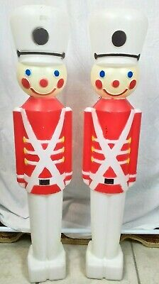 Vintage 1987 Union Products Blow Mold 2 Toy Soldiers one light fixture