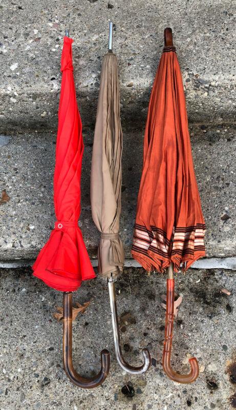 Lot Of 3 Vintage Umbrellas