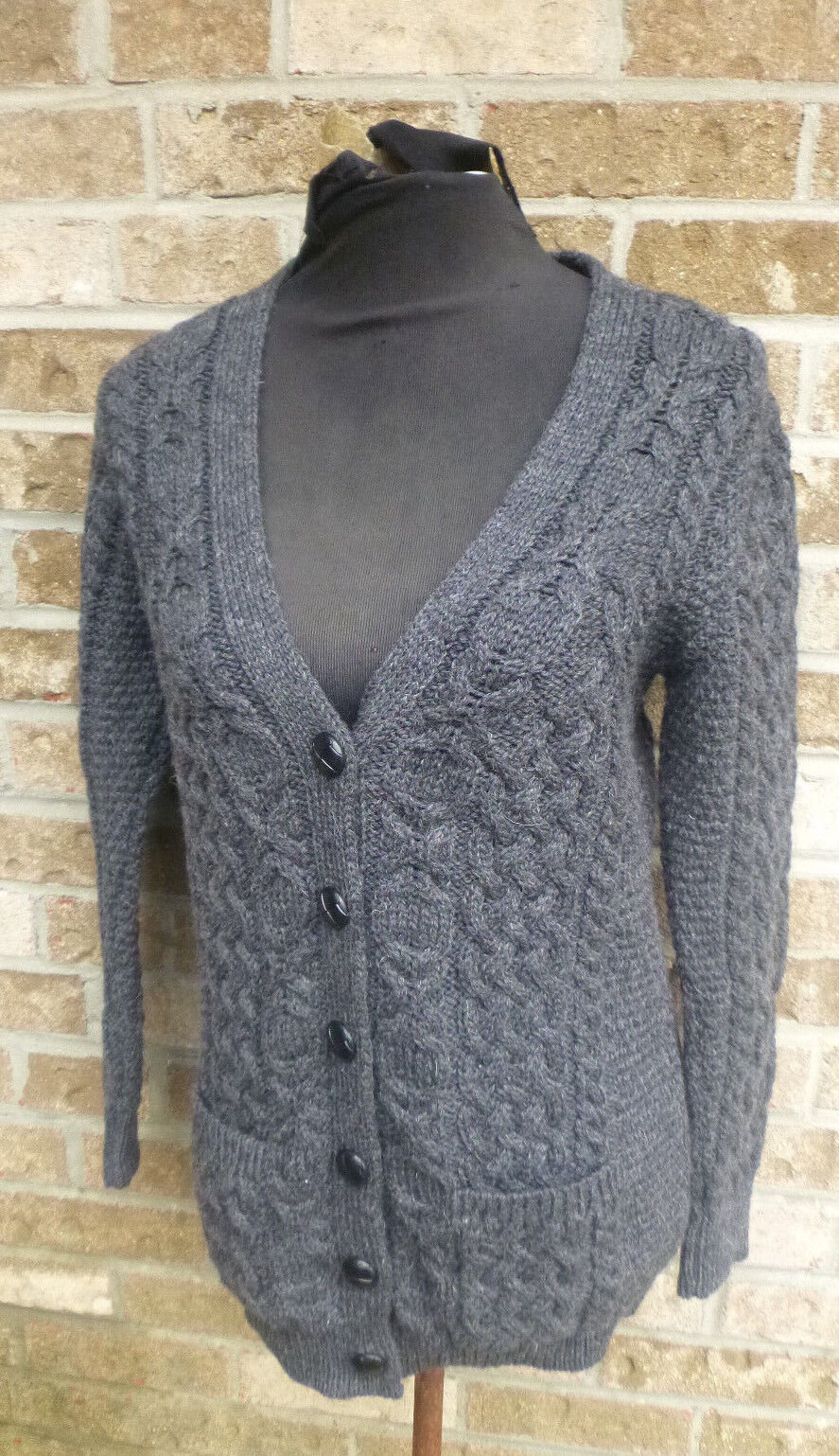 Women 39 s inis crafts charcoal gray 100 for Inis crafts sweater price