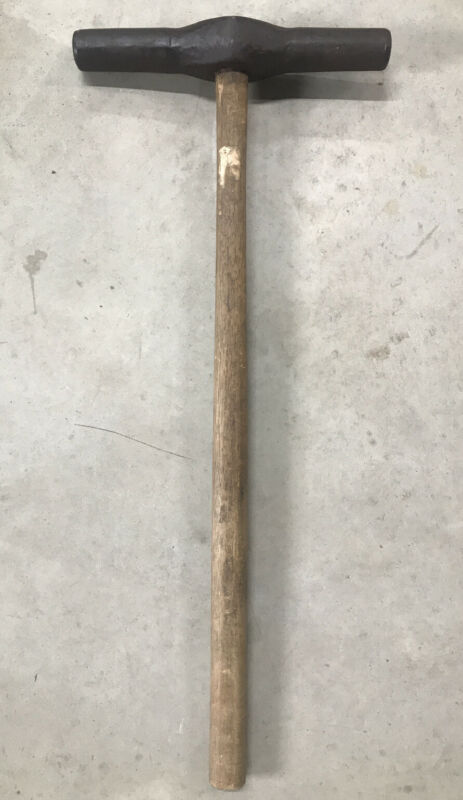 Antique 10 LB. RAILROAD SPIKE SLEDGE HAMMER. Early Forged RR Hammer