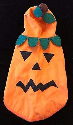 small PET PUPPY DOG CAT PUMPKIN JACK O LANTERN HALLOWEEN COSTUME 1 PC HOOD FACE  - Halloween Puppy Dog Face