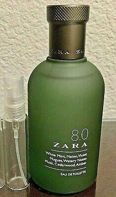 ZARA 8.0 EDT 10ml Glass Decant Samples