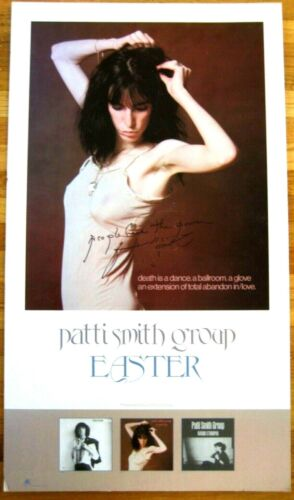 Ultra Rare Easter LP Promo Stand Up Signed People Have the Power by Patti Smith